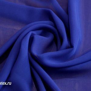 Ткань шифон однотонный цвет васильковый