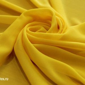 Ткань шифон однотонный цвет жёлтый