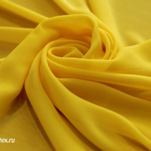 Ткань пляжная шифон однотонный цвет жёлтый