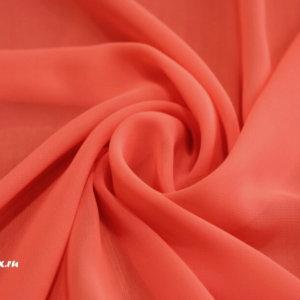 Ткань пляжная шифон однотонный цвет красно-оранжевый