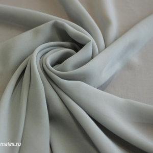 Ткань шифон однотонный цвет серый