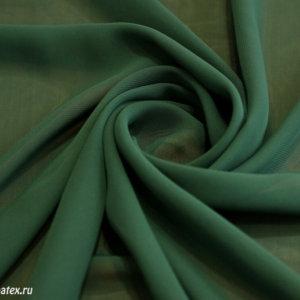 Ткань шифон однотонный цвет тёмно-зелёный