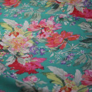Ткань штапель лилия цвет светло-зелёный