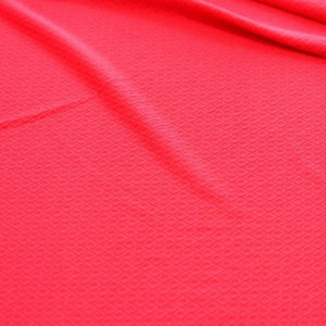 Ткань трикотаж жаккардовый ромб однотонный цвет красный
