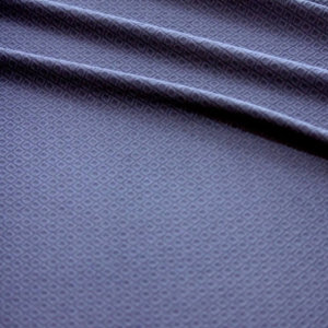Ткань трикотаж жаккардовый ромб однотонный цвет тёмно-синий