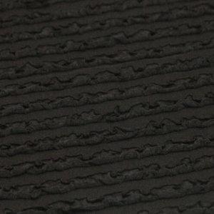 Ткань трикотаж рюши цвет черный