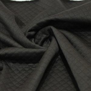 Ткань трикотаж стежка ромб цвет черный