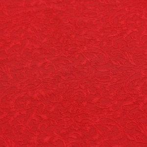 Ткань трикотаж жаккард цвет красный