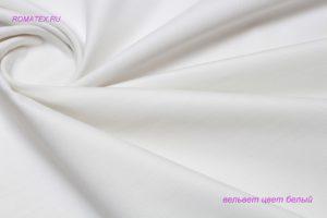 Ткань вельвет цвет белый