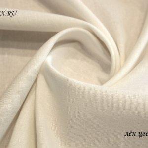 Ткань лен белый