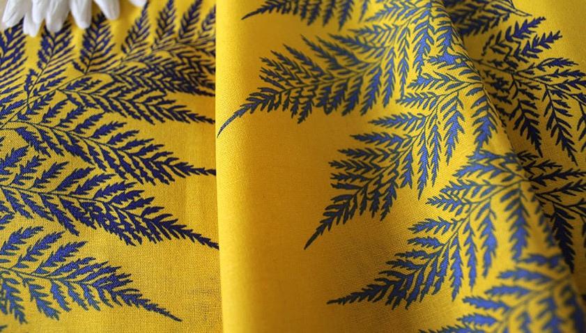 Лен Папоротник цвет Желтый