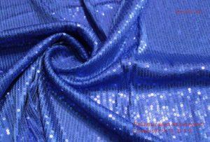 Ткань пайетки цвет васильковый