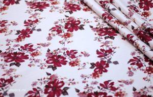 Ткань для брюк хлопок сатин цветочек