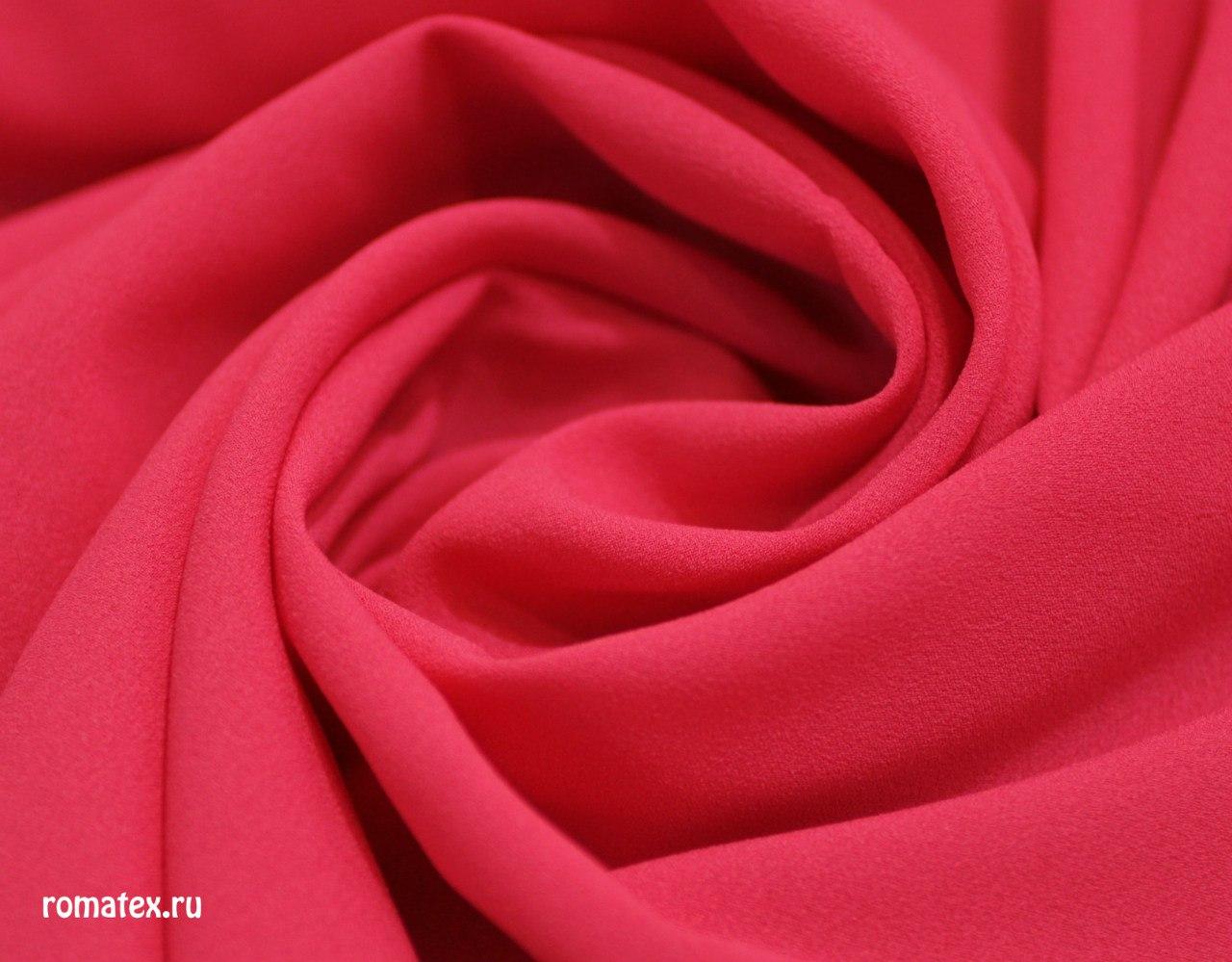 Ткань креп-шифон цвет красно-коралловый