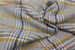 Ткань пальтовая клетка цвет желто-серый
