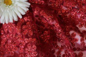 Ткань сетка валентино цвет красный