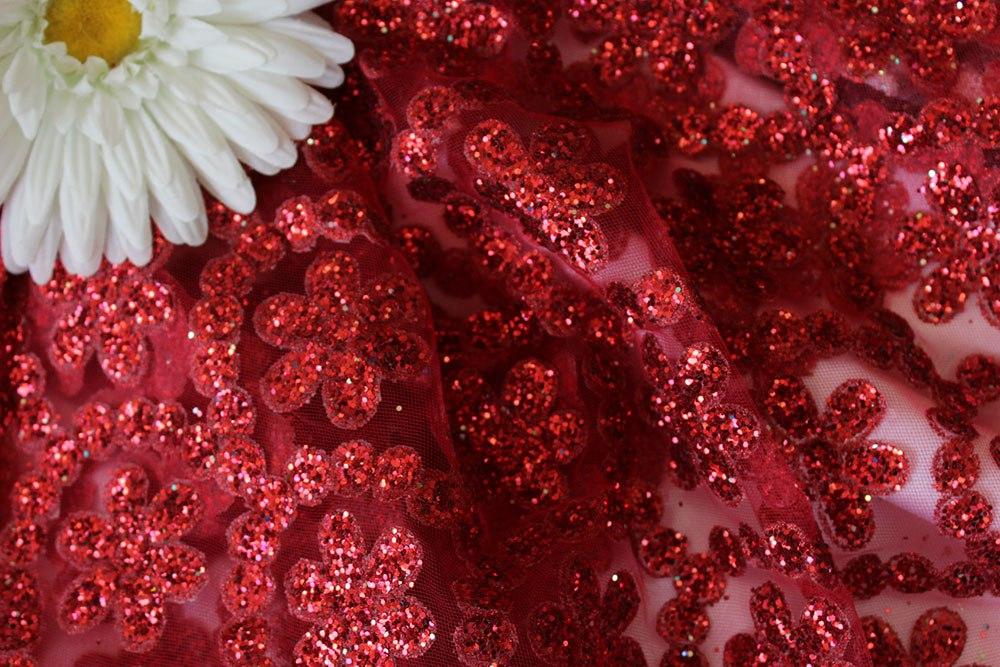 Сетка Валентино цвет красный