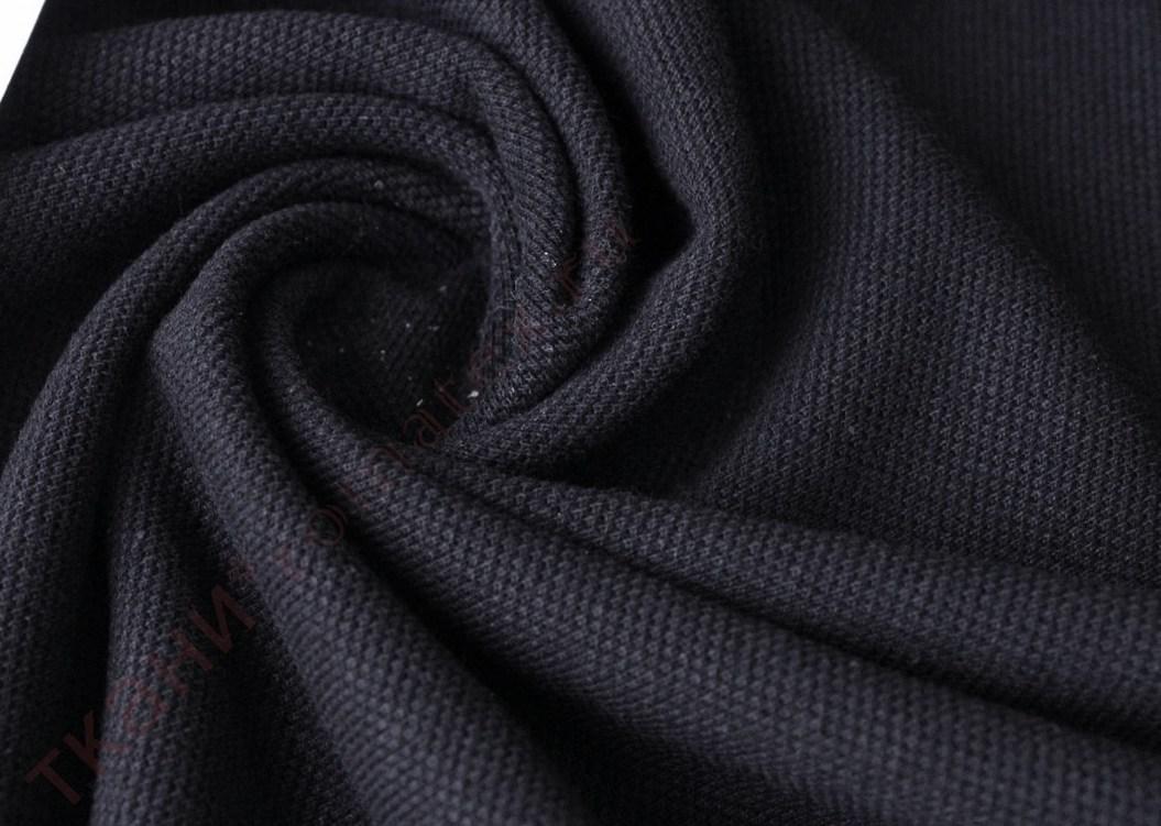 Пике цвет черный