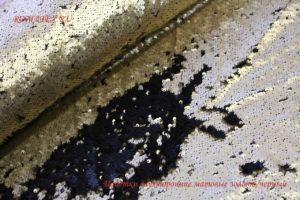 Ткань пайетки двухсторонние цвет золото/чёрный