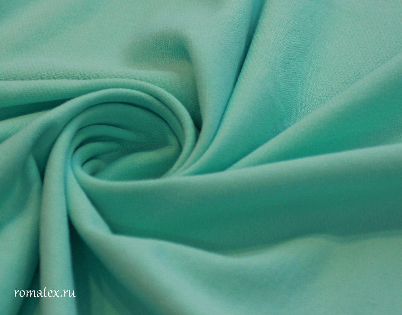 Ткань футер 3-х нитка петля цвет мятный