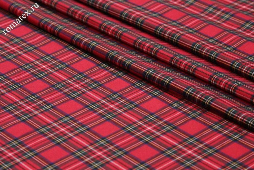 Ткань костюмная «шотландка»