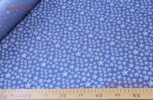 Ткань тенсель «звездочки» цвет синий