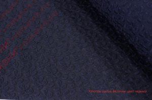 Ткань хлопок шитьё веточки цвет черный