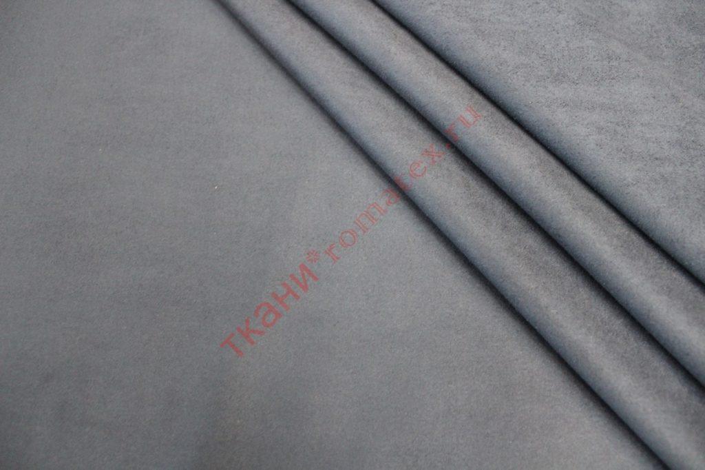 Ткань замша на трикотаже серый