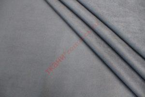 Ткань курточная замша на трикотаже серый