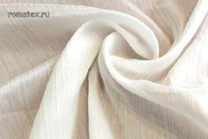 Ткань шелк плиссе молочный