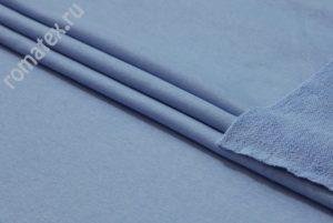 Ткань футер 3-х нитка петля качество пенье цвет серо-голубой