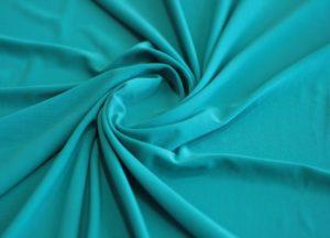 Ткань трикотаж масло цвет бирюзовый