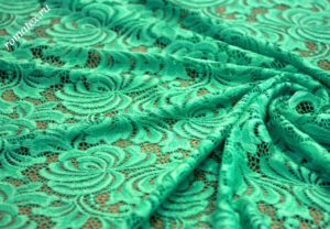 Ткань гипюр ds цвет бирюзовый