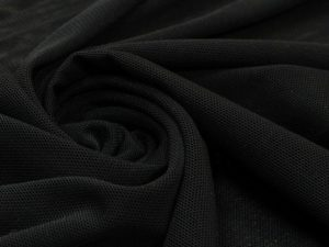 Ткань сетка трикотажная цвет графитовый чёрный