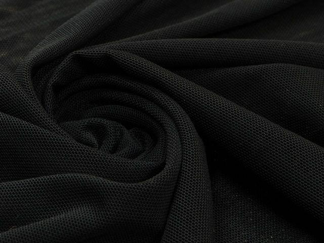 Сетка трикотажная цвет графитовый чёрный