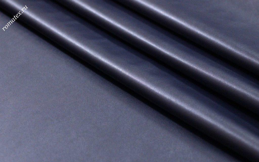 Ткань кожзам стрейч цвет темно-синий