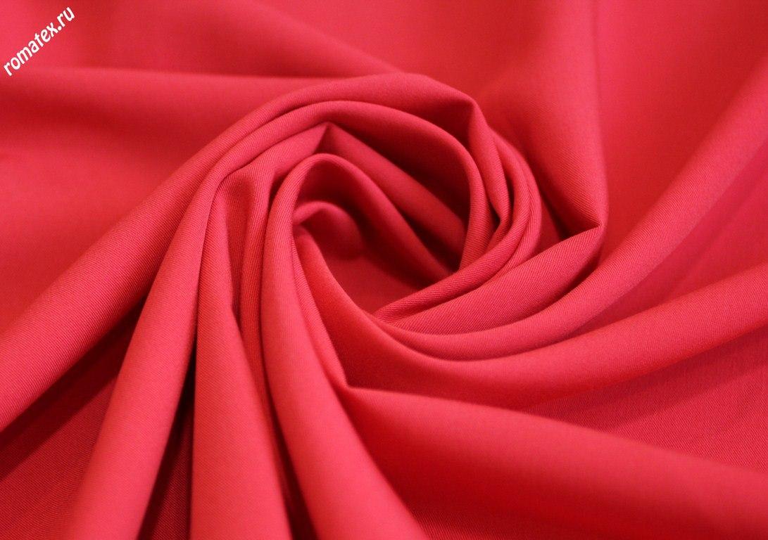 Ткань лиза спандекс цвет красно-коралловый
