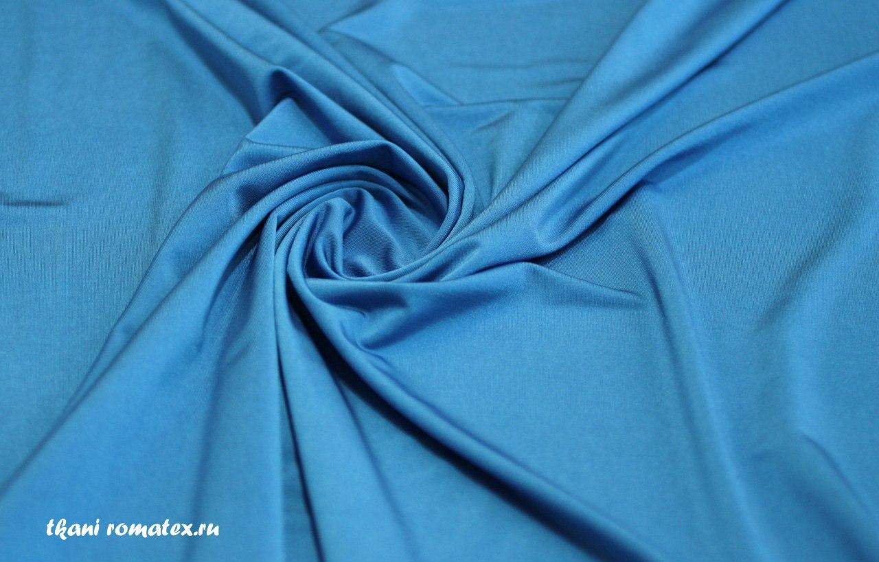Ткань масло кристалл цвет голубой