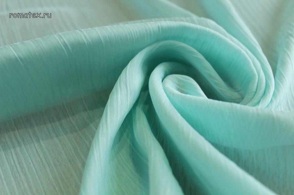 Ткань шелк плиссе мята