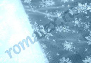 Ткань снежинки на сетке цвет светло голубой