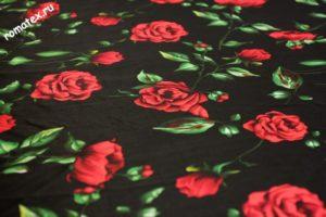 Ткань для постельного белья твил принт d5 чёрный