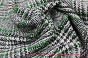 Ткань пальтовая клетка цвет зелёно-чёрный
