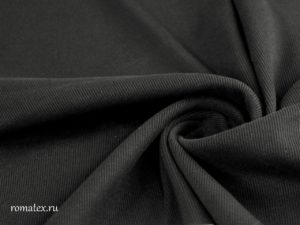 Ткань кашкорсе цвет чёрный качество пенье