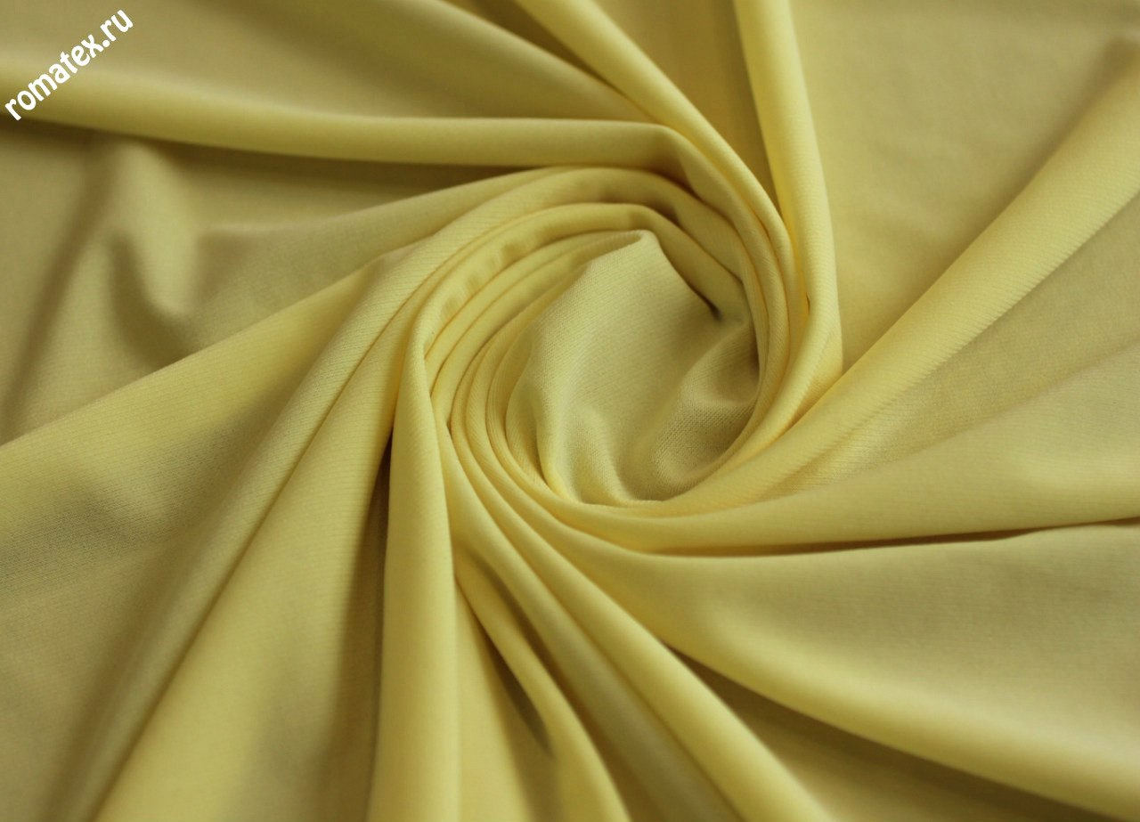 Ткань трикотаж масло жёлтый