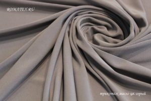 Ткань для купальника трикотаж масло серый
