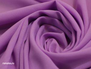 Ткань плательный креп шифон цвет сиреневый