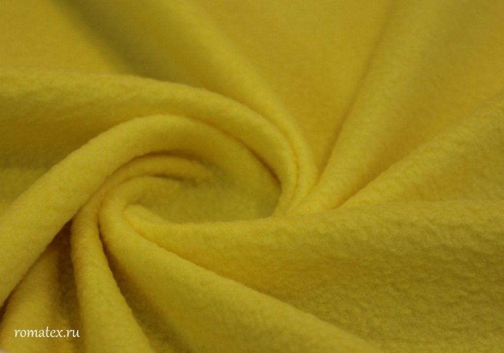 Ткань полар флис цвет жёлтый