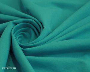 Ткань футер 2-х нитка петля цвет бирюзовый