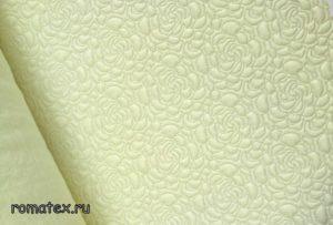 Ткань капитоний розочка цвет жёлтый