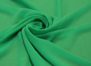 Ткань шифон микровискоза цвет светло-зелёный